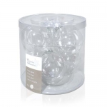 Шар стекло прозрачный d8см 6шт/уп
